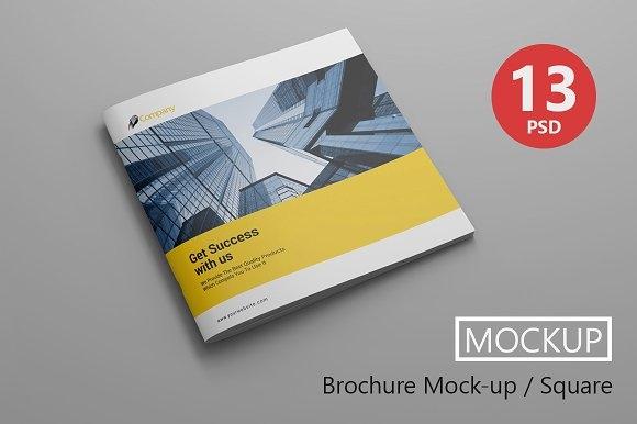 brochure mockup square