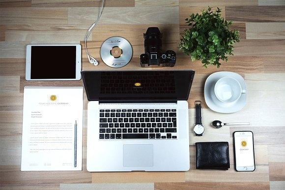 business desk mockup