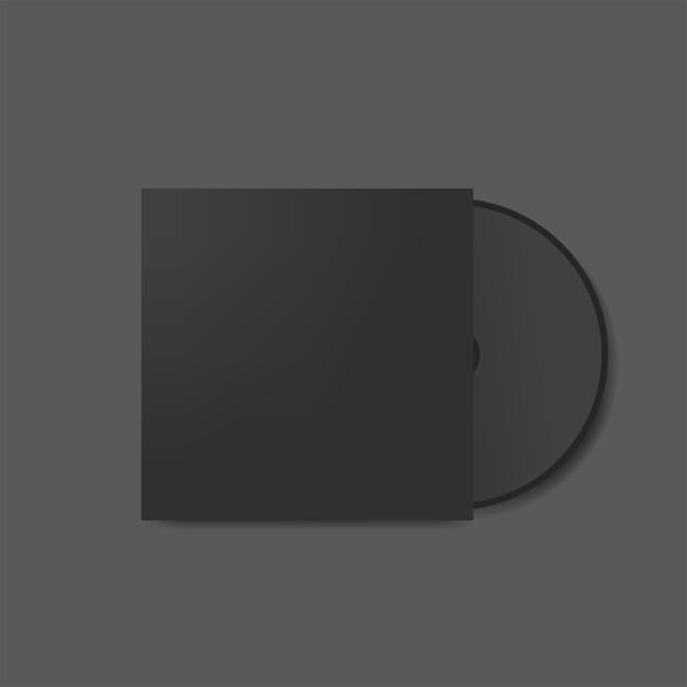 cd cover design mockup vector free download