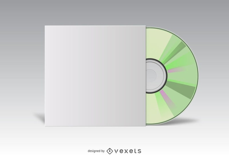 cd cover white mockup vector download