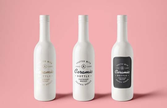 collection of free bottle psd mockups designbeep