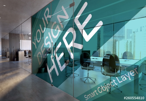 conference room mural mockup buy this stock template and