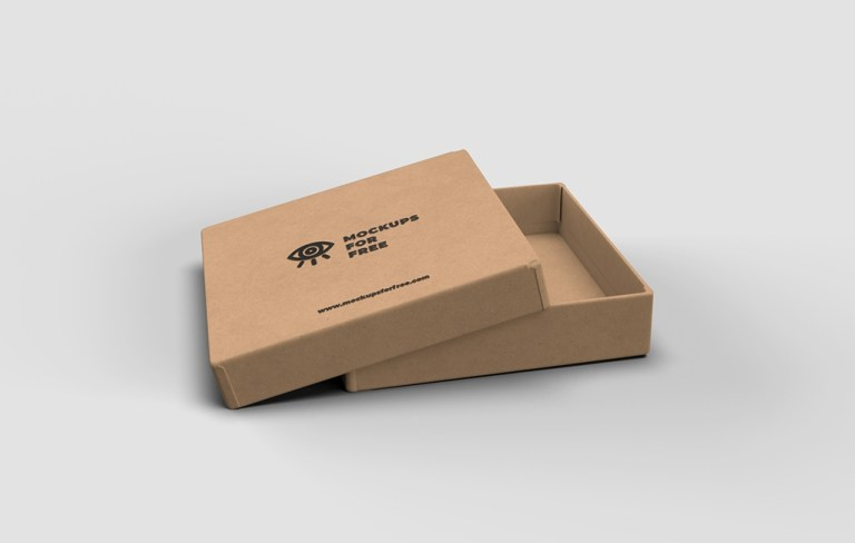 craft paper box mockup mockups for free
