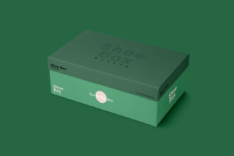 download this free shoe box mockup in psd for shoe packaging