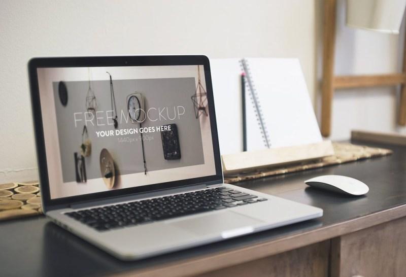 elegant macbook mockup mockupworld