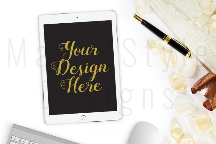 feminine desktop baclground mockup ipad tablet mockup 438