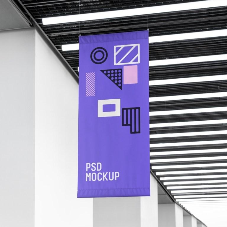flag mockup mrmockup graphic design freebies