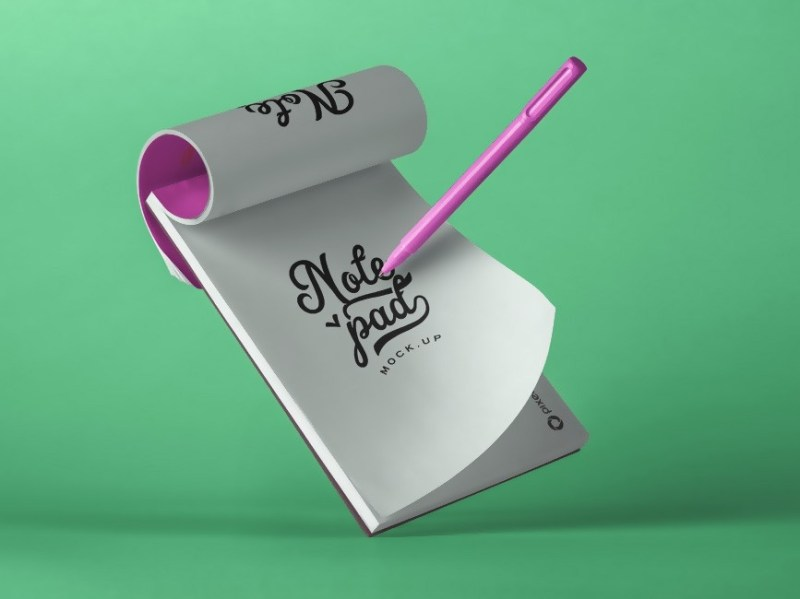 floating notebook mockup mockup love