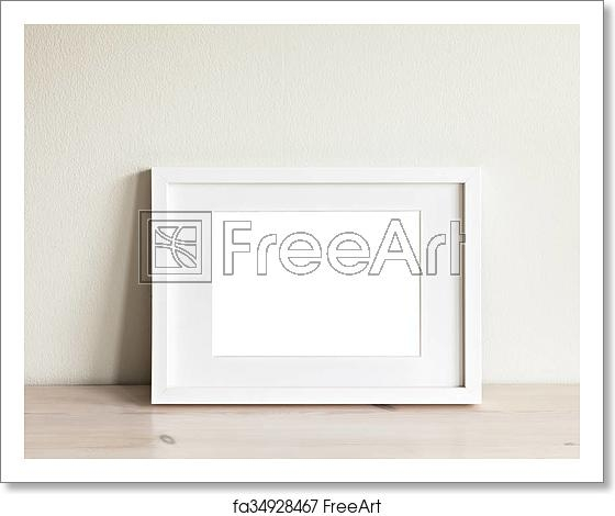 free art print of horizontal white frame mockup