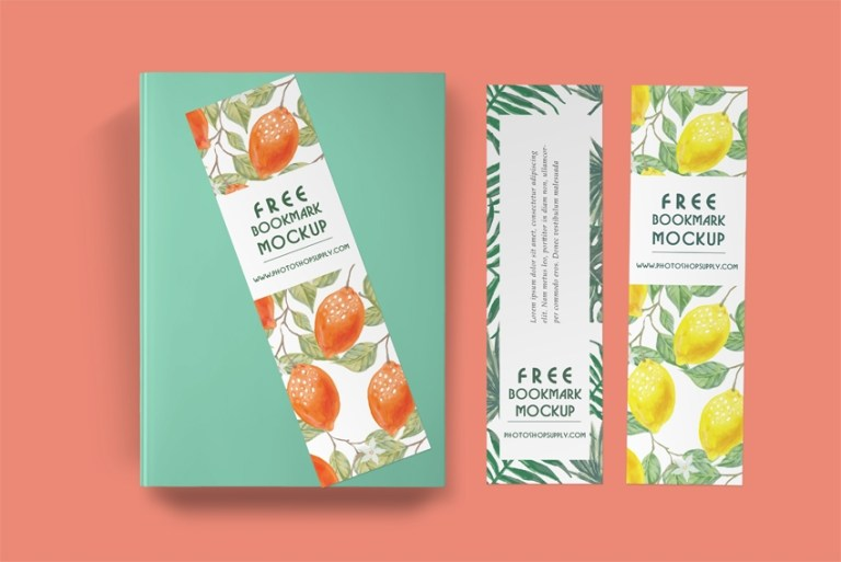 free bookmark mockup photoshop supply