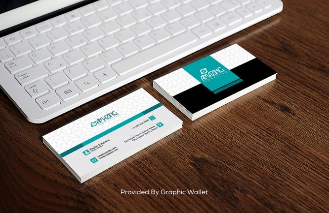 free business card with ipad mockup psd graphic wallet