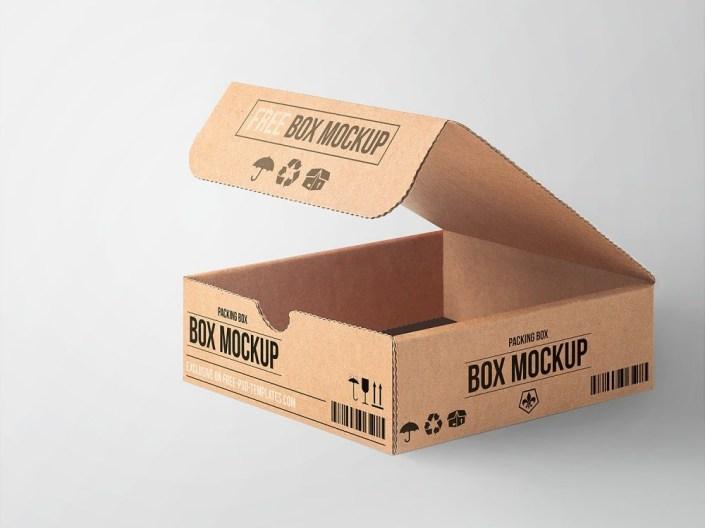 free cardboard box mockup free mockup