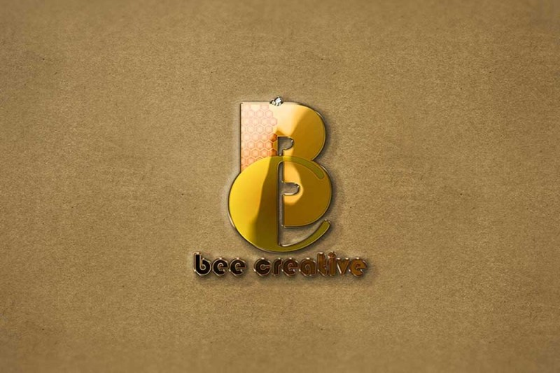 free download 3d gold logo mockup in psd designhooks