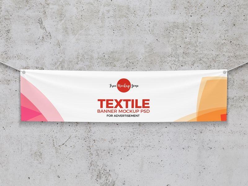 free elegant textile banner mockup mockups billboard mockup