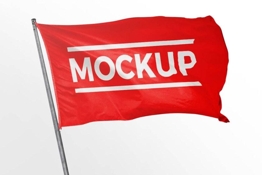 free flag mockup mockuptree