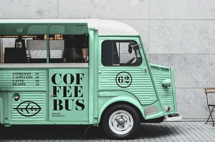 free food truck mockup mockuptree