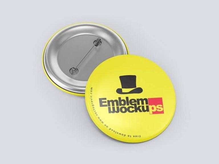 free funky button pin mockup in psd designhooks