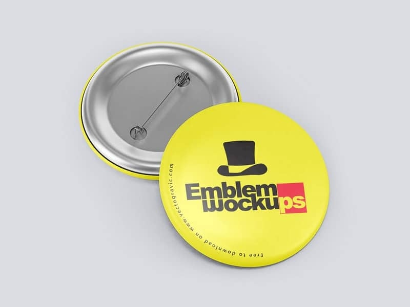 free funky button pin mockup in psd designhooks