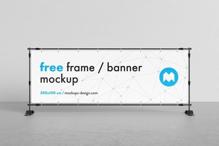 free horizontal banner mockup horizontal banner mockup signs