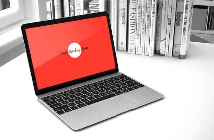 free office laptop mockup mockuptree