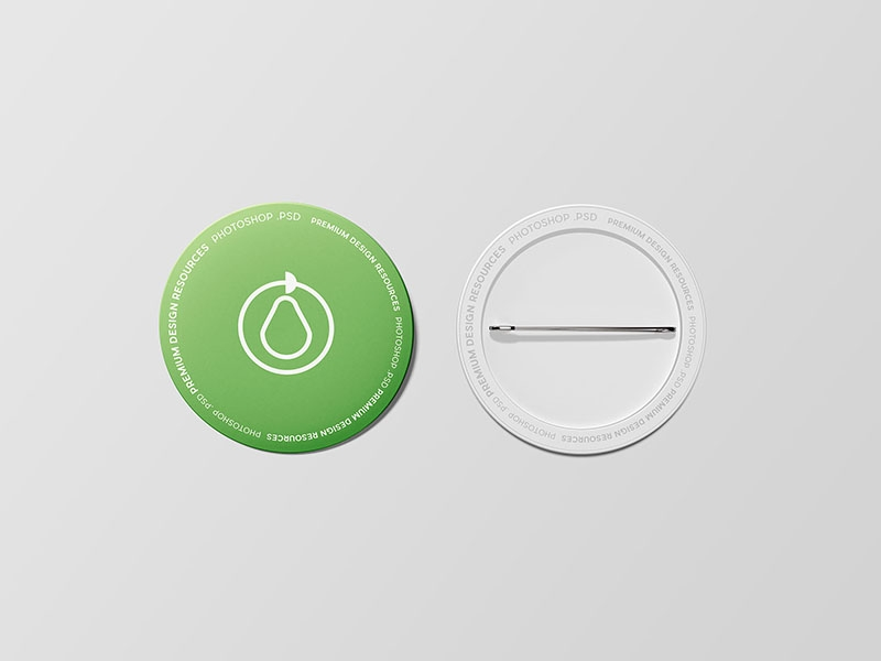 free pin button badge mockup psd wassim on dribbble
