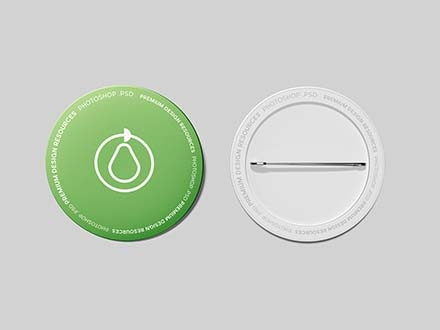 free pin button badge mockup psd