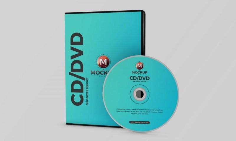 free premium branding cd dvd disc cover mockup psd 2018