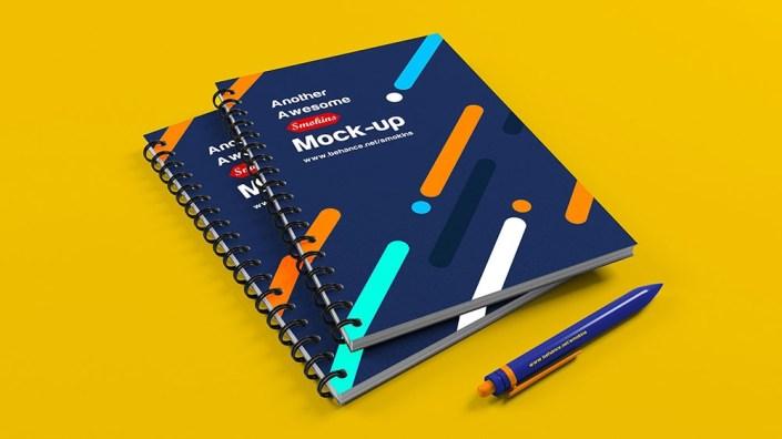 free spiral notebook mockup psd mockuptree