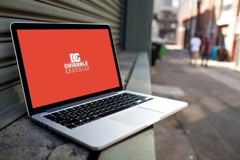 free street laptop mockup mockuptree