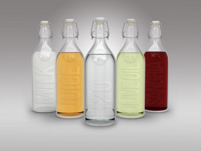 glas swing cap bottles mockup mockupworld