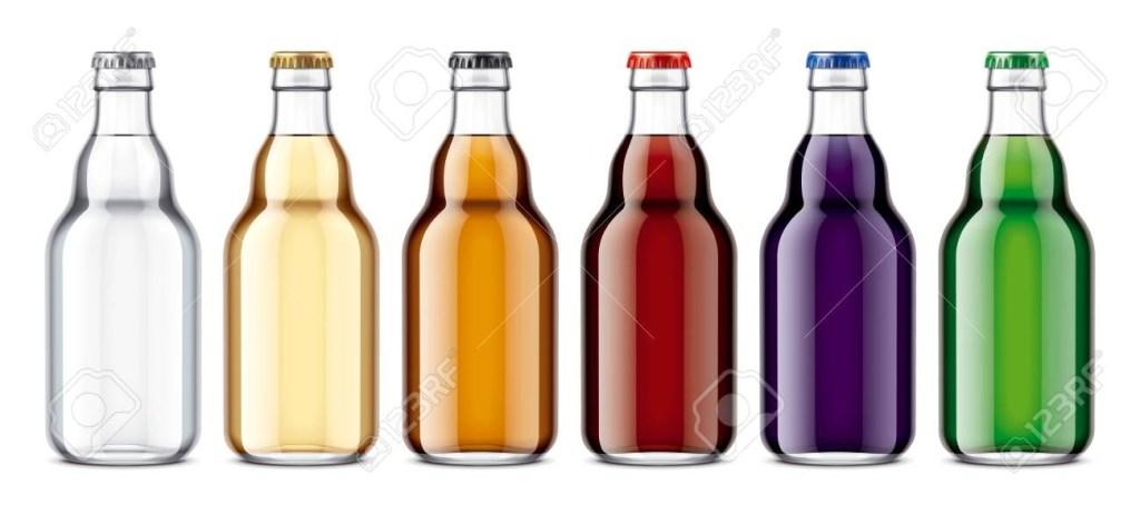 glass bottles mockup