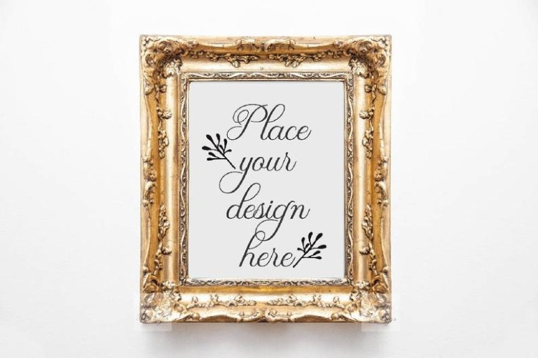 gold frame mockup romantic mock up edwardian frame mockup antique frame template vintage frame mock ups blank frame mockups