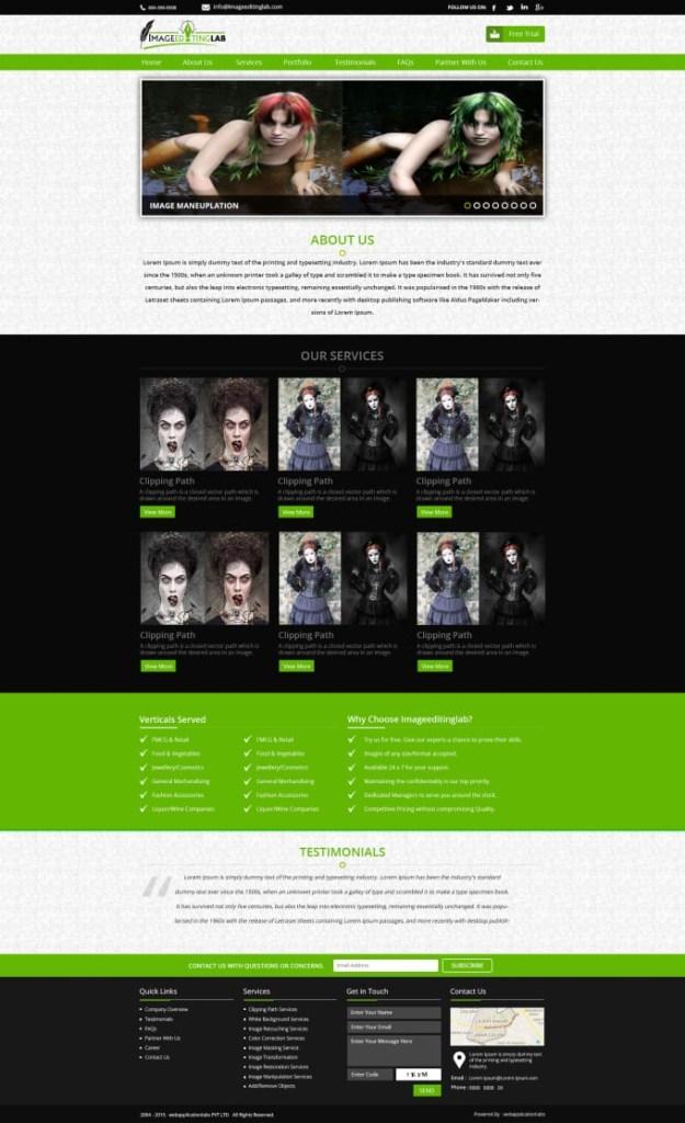 home pages logo banner mockup mailer designe
