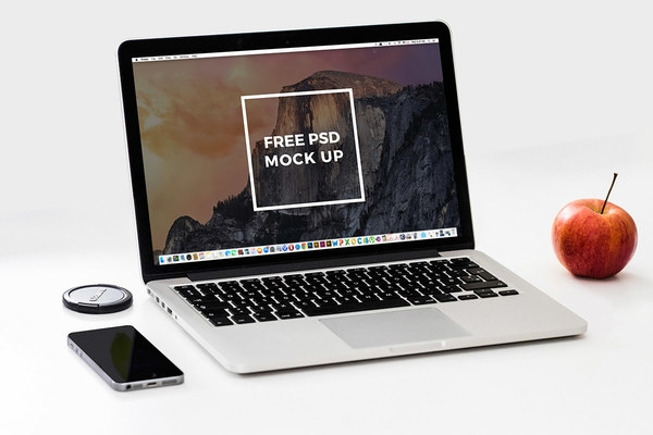 laptop mockup psd template free download