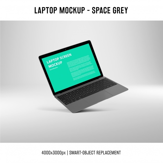 laptop screen mockup psd file free download