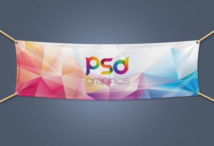 layered fabric banner mockup mockupworld