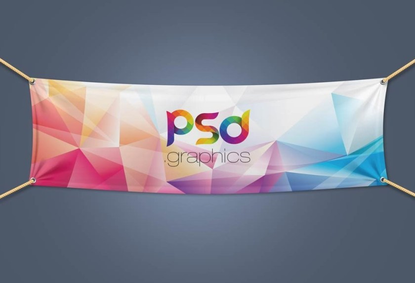 layered fabric banner mockup mockupworld