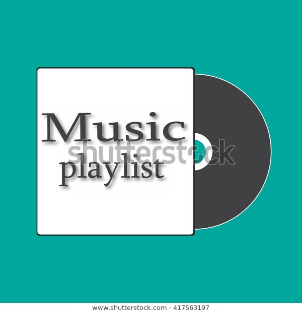 mixed cd cover mockup template lettering stock vector