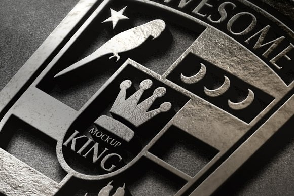 mockup king 3d logo mockup template