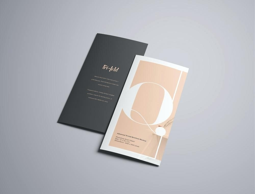 mockup world fold brochure free perspective s templates poster