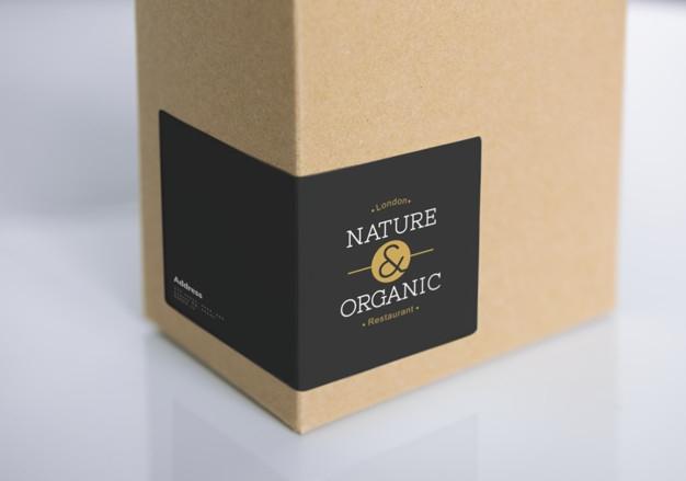 natural paper box packaging mockup psd file free download