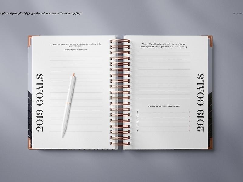 notebook mockup set mockup5 on dribbble