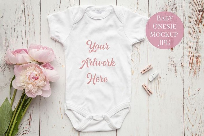 onesie infant bodysuit mockup