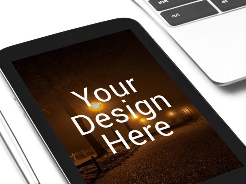 perspective black tablet mockup mockupblast