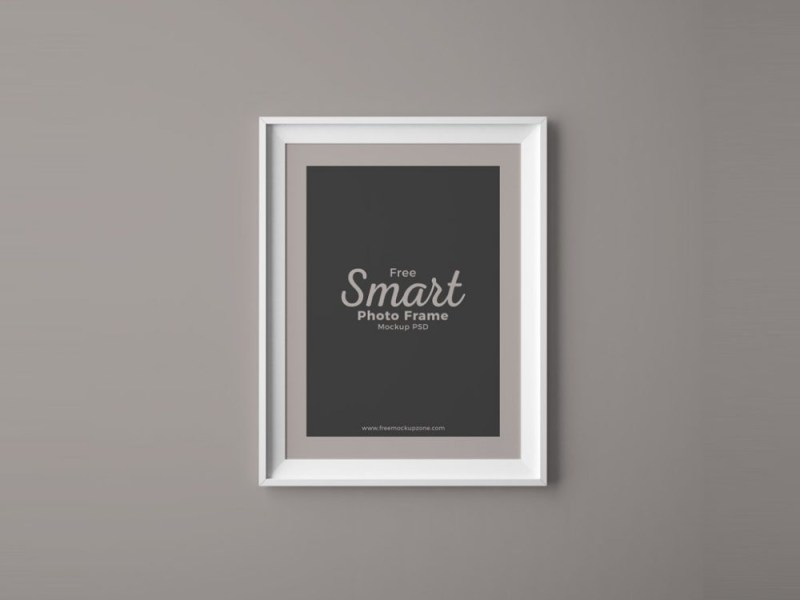 photo frame on wall mockup mockupworld