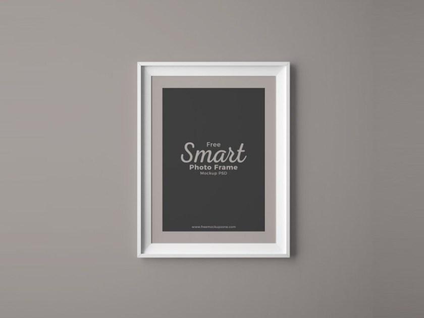 photo frame on wall mockup mockupworld