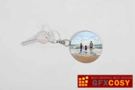 photo keychain mockup free download photoshop vector stock image