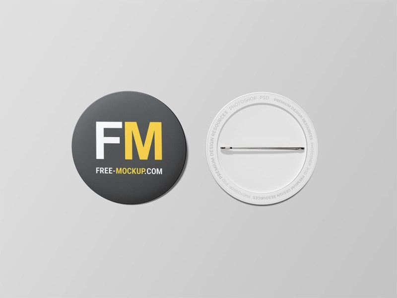 pin button badge mockup free mockup