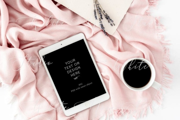 pink ipad mockup psd template to show your text feminine ipad mock up ipad mockup smart object tablet mockup instant download 042