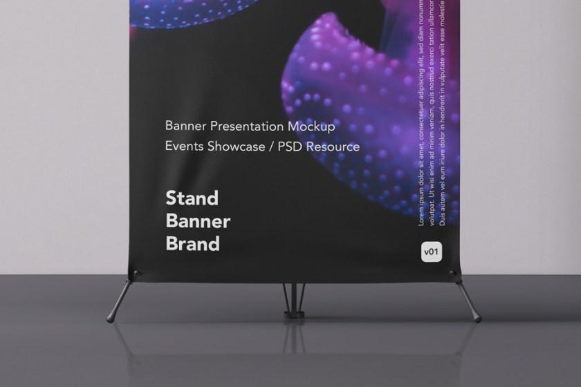 psd banner stand mockup psd mock up templates pixeden